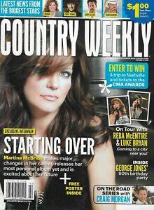 Country Weekly Magazine Martina McBride Reba McEntire Luke Bryan George Jones