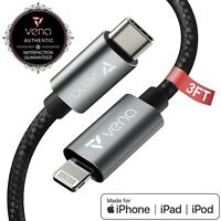 Vena [3FT] MFI Certified USB C to Lightning PD Fast Charging Sync Charge Cable