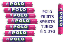 NEW POLO FRUITS SWEETS TUBES 8 x 37g ORIGINAL
