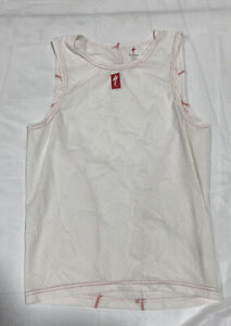 Specialized Unisex Cycling Jersey Tank Size Small White And Red Tank Top