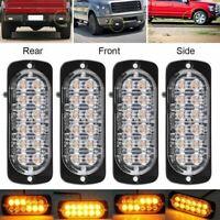 12 LED Auto LKW Frontblitzer Blitzlicht Warnleuchte Strobe Licht 12/24V
