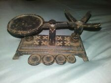 Old Antique Vintage Cast Iron Balance Scale