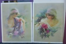 1974 Oriental Violet 12x16 Lithograph No. 394 & 395 Ira Roberts Publishing usa
