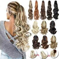Long Wavy Real Thick Claw Ponytail Hair Piece Clip In Pony Tail Hair Extensions