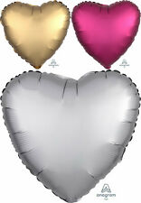 HEART SHAPED SATIN LUXE Foil Balloons Party Decorations Supplies Love Wedding