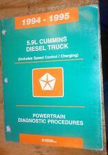 1994 1995 DODGE RAM TRUCK FACTORY DIAGNOSTICS MANUAL CUMMINS 5.9L TURBO DIESEL