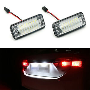For Subaru Forester Tail LED Number License Plate Lights Lamps Assembly 2PCS