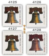 4125-28 4126 4127 4128 Forever Liberty Bell 2007 Complete Set of 4 MNH - Buy Now