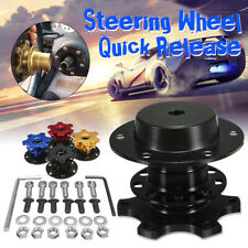 Universal Steering Wheel Quick Release Hub Adapter Removable Snap Off Boss Set