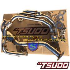 TSUDO STAINLESS V2 UEL HEADER DOWNPIPE W/ CATLESS FOR IMPREZA 2.5 RS 1997-2005