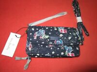 Vera Bradley Holiday Owls RFID All In One Crossbody Wristlet i phone 6+ NWT