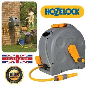 Hozelock Compact Hose Pipe Wall Mounted Reel 2-In-1 With 25 m Hose Garden