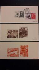 3 gravures épreuve France entre 4534 & 4548 Marianne de Beaujard Les Chiens 2011