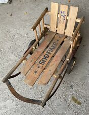 Paris Sno Ball Vintage Child's Sleigh - Works On Snow Or Level Surface!