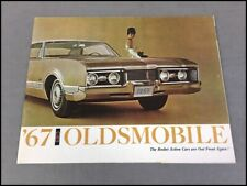 1967 OLDS 4-4-2 CUTLASS 4-Page BROCHURE 67 OLDSMOBILE AUTO EXAMINER CATALOG