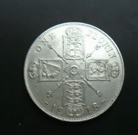 UK 1918 FLORIN HIGH GRADE GEORGE V BRITISH SILVER FLORIN ref SPINK 4012 Cc1