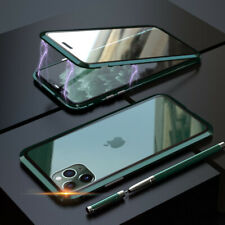 360° Magnetic Metal Case Double Tempered Glass Full Cover For iPhone 11 Pro Max