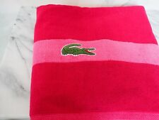 "Lacoste Bath Towel 100% Cotton Size 30""x 54"" Red Brand New w/ Tags Authentic"