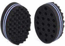 2PCS Men Curly Twist Dread Coil Wave Double Side Hair Brush Sponge wave tool US