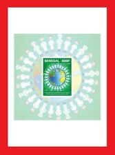 SENEGAL 2020 SHEET DELUXE PROOF - JOINT ISSUE - STRUGGLE AGAINST PANDEMIC - MNH