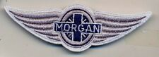 morgan motor company auto car  IRON ON embroidery patch  3.5 X 1.5  Emblem Logo