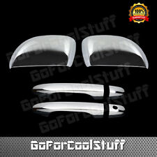 For Honda 12-13 Civic Chrome 2D Door Handle W/O Pskh + Mirror Cover Combo Set