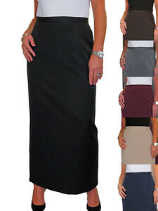 ICE Maxi Skirt Fully Lined Smart Tailored Office Day Evening 10-24