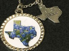 "Texas Bluebonnets Charm Tibetan Silver 18"" Necklace Mix B BIN"