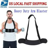 Heavy Duty Arm Blaster Bicep Body Building Bomber Curl Triceps +Adjustable Strap