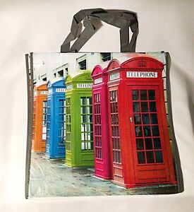Reusable Shopping Bag Telephone Boxes Large Strong Water Resistant Shopping Bag