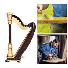 Mini Harp Model Wooden Instrument Replica Home Office Table Decoration Ornament