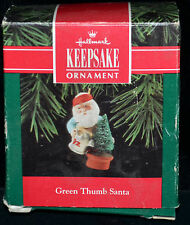 Green Thumb Santa - Hallmark Keepsake Collector's Christmas Ornament Dated 1992