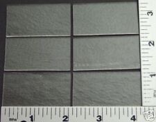 "6 THIN CLEAR 1"" x 2"" BULLSEYE GLASS RECTANGLES 90 COE"
