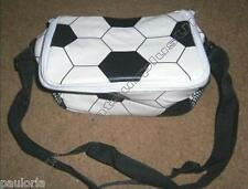Childs LUNCH COOL BAG - Football pattern Carry Straps **NEW** School Sport Club