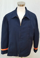 VGUC Cintas Mens Reflective Work Jacket Insulated 56-XLN Blue FRESHLY LAUNDERED!