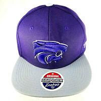Zephyr Original Snapback Cap Kansas State Wildcats NCAA Flat Bill Hat