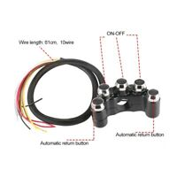 5-Button Motorcycle CNC  Handlebar Light On/Off Indicator Switch Electric Bike
