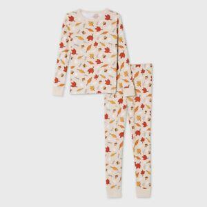 Kids' Fall Leaf Print Matching Family Pajama Set - 6