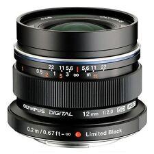 Olympus M.ZUIKO DIGITAL ED 12mm f/2.0 Lens Black UU