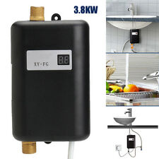 220V 3800W Mini Electric Tankless Instant Shower Hot Water Heater System Kitchen