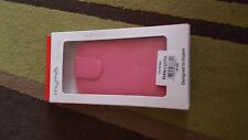 BLACKBERRY Q10 PINK FLIP LEATHER LOOK PHONE CASE