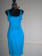 Bright Blue Gianni Versace Shift/Wiggle Dress Size 10 (Italy 42)V.G.C