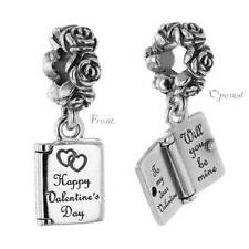 * New Authentic Pandora Love Note Valentines Day 791246 With Pouch Wife Gift