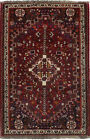 Vintage Small Size Tribal Design 4X5 Hand Knotted Area Rug Oriental Wool Carpet