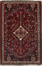 New listing Vintage Small Size Tribal Design 4X5 Hand Knotted Area Rug Oriental Wool Carpet