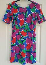 Ladies Summer Dress Pink, Purple, & green.blue, Bold Pattern. Size 12 Tu NWOT