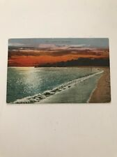 1910 MITCHELL #1010 POSTCARD SUNSET ON THE BEACH SAN FRANCISCO CA