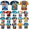 Dragon Ball Z Print 3D T-Shirt Super Saiyan Women Men Casual Short Sleeve Tee
