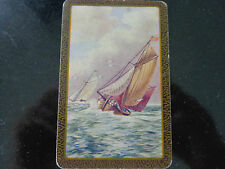 OLD , VINTAGE ,BOAT , SINGLE ,SWAP PLAYING  CARD.