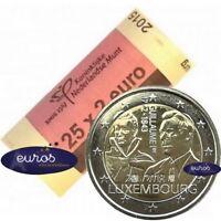Rouleau 25 x 2 euros LUXEMBOURG 2018 - Mort du Grand Duc Guillaume Ier - UNC
